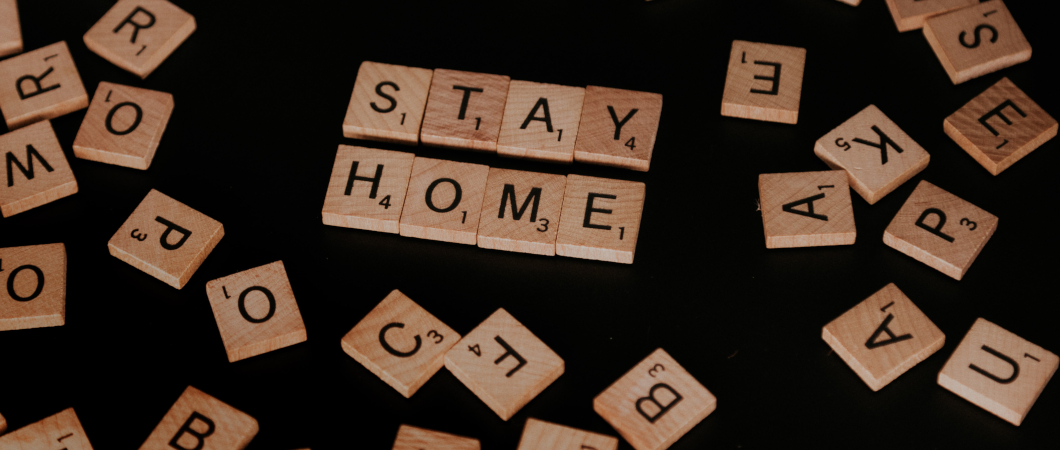 "Scrabble Steine ""Stay Home"""