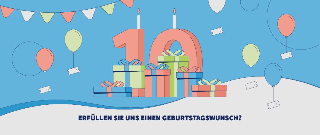 Der KulturRaum feiert 2021 seinen zehnten Geburtstag. Klicken Sie auf das Bild, um zu Spendenkampagne zu gelangen.
